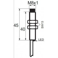 Indukční snímač A01EG82, M8, 2mm