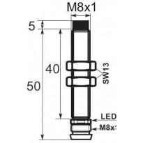 Indukční snímač B03E86POV6, M8, 5mm, PNP, NO