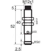 Indukční snímač B01E124PSCC5, M12, 4mm, PNP, NO+NC