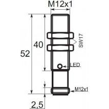 Indukční snímač B03124PCC5, M12, 4mm, PNP, NC