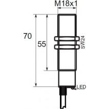 Indukční snímač B01G185PC, M18, 5mm, PNP, NC