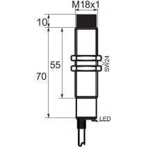 Indukční snímač B01EG188PO, M18, 8mm, PNP, NO