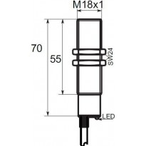 Indukční snímač BCR1G185PC, M18, 5mm, PNP, NC