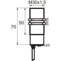 Indukční snímač BCR1G3010PO, M30, 10mm, PNP, NO