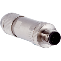 Konektor STE-1208-GA01, M12, 8pin, přímý, samec