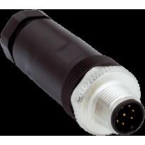 Konektor STE-1208-G, M12, 8pin, přímý, samec