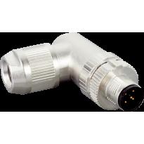 Konektor STE-1205-WQ, M12, 5pin, úhlový, samec