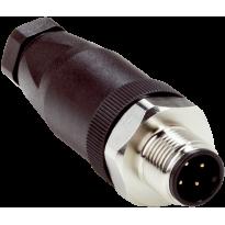 Konektor STE-1204-GN, M12, 4pin, přímý, samec