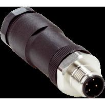 Konektor STE-1204-TN, M12, 4pin, přímý, samec