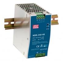 Napájecí zdroj NDR-240-24, 24V, 240W, 1-fáze, na DIN lištu