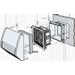 Mřížka s ventilátorem a filtrem